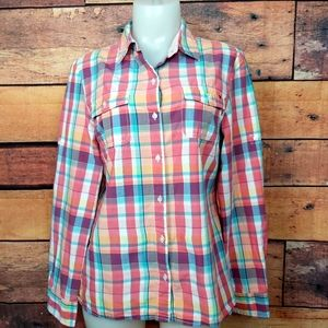 Tommy Hillfiger long sleeves plaid button down shi